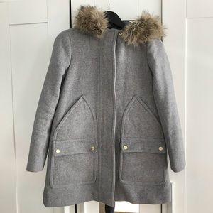 J Crew Gray Wool Coat
